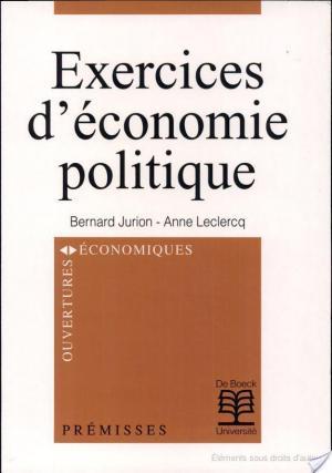 Affiche Exercices d'économie politique
