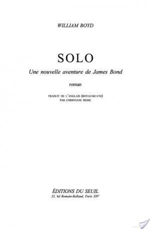 Affiche Solo, une nouvelle aventure de James Bond
