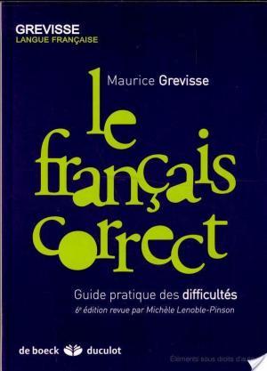 Affiche Le français correct