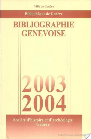 Affiche Bibliographie Genevoise 2003-2004