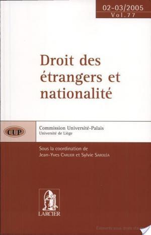 Affiche Droit des étrangers et nationalité