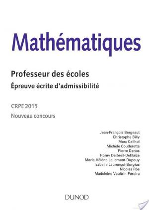 Affiche Mathématiques. Professeur des écoles. Ecrit admissibilité - 2015