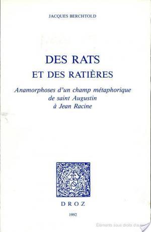 Affiche Des rats et des ratières