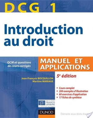 Affiche DCG 1 - Introduction au droit - 5e édition - Manuel et applications