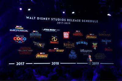 Le calendrier 2017-2019 des films Disney-Pixar-Marvel